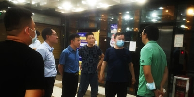 广州市越秀区生态环保局领导参观考察壹指蓝工程案例